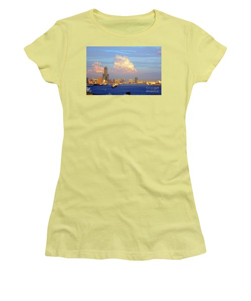 View Of Kaohsiung City At Sunset Time Women's T-Shirt (Athletic Fit)