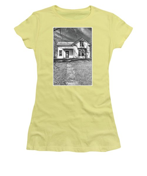 Visiting The Old Homestead Women's T-Shirt (Junior Cut) by Guy Whiteley
