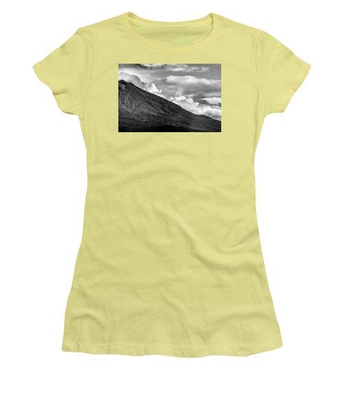Volcano Women's T-Shirt (Junior Cut) by Hayato Matsumoto
