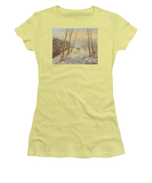 Walking In Sunshine Women's T-Shirt (Junior Cut) by Genevieve Brown