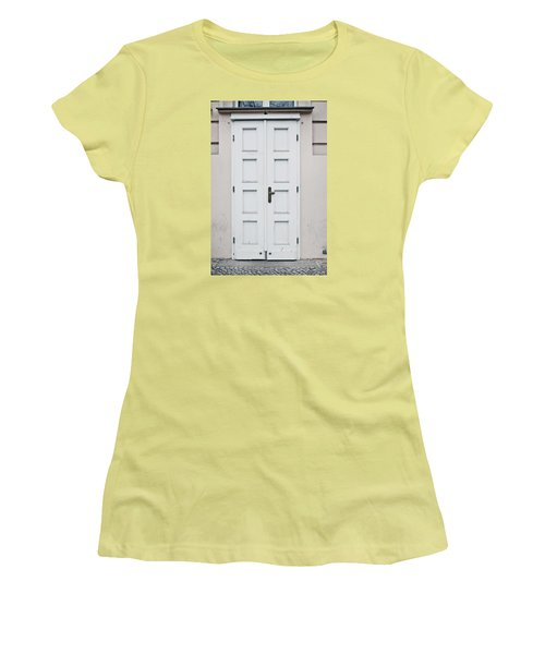 White Door Women's T-Shirt (Athletic Fit)