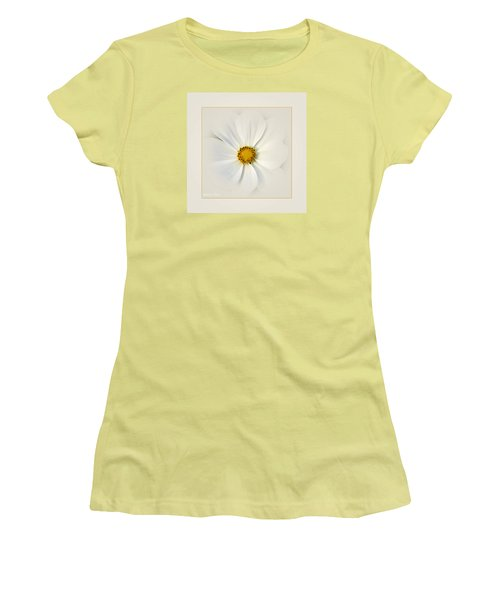White On White Women's T-Shirt (Athletic Fit)