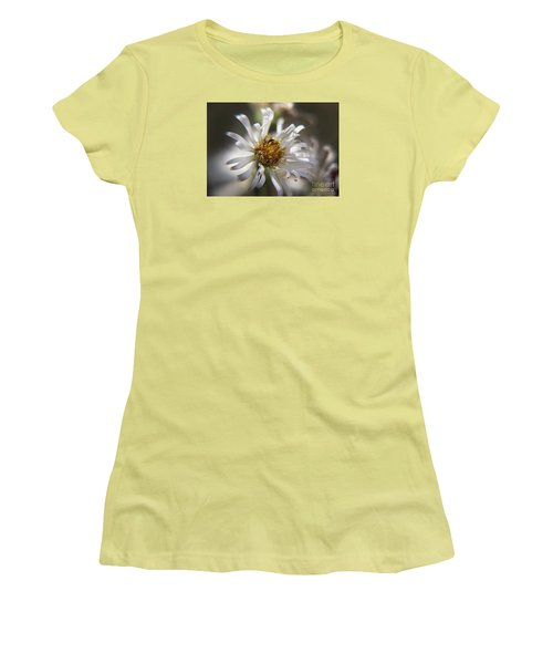 Women's T-Shirt (Junior Cut) featuring the photograph Wild Aster by Yumi Johnson