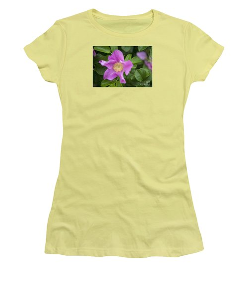 Women's T-Shirt (Junior Cut) featuring the photograph Wild Rose by Alana Ranney