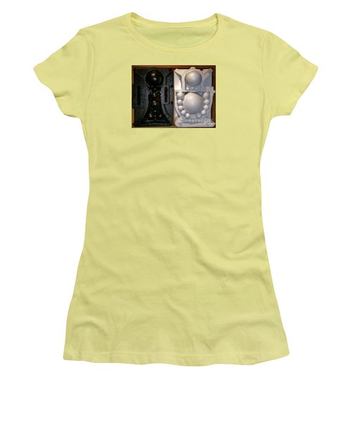 Women's T-Shirt (Junior Cut) featuring the painting Willendorf Wedding by James Lanigan Thompson MFA