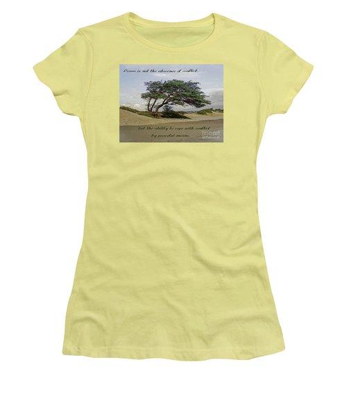 Windy Lean Women's T-Shirt (Junior Cut) by Gena Weiser