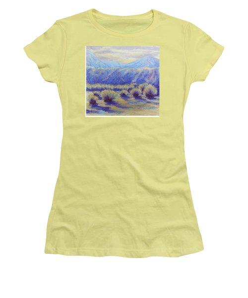Winter Morning Riverbend Women's T-Shirt (Junior Cut) by Becky Chappell