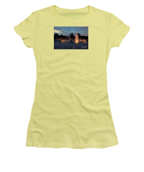 World War II Memorial Fountain Women's T-Shirt (Athletic Fit)