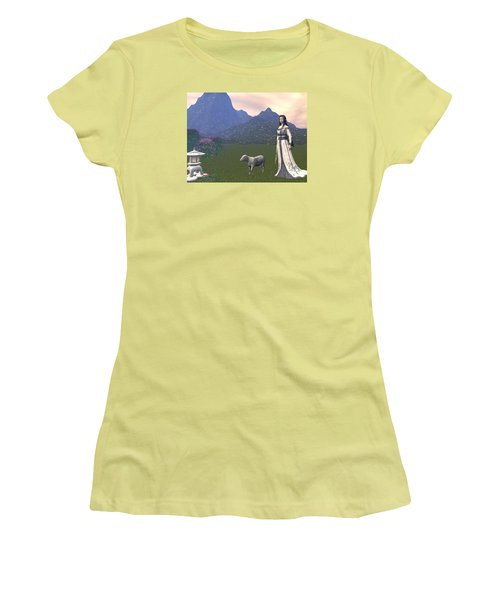 Year Of The Sheep Women's T-Shirt (Junior Cut) by Michele Wilson