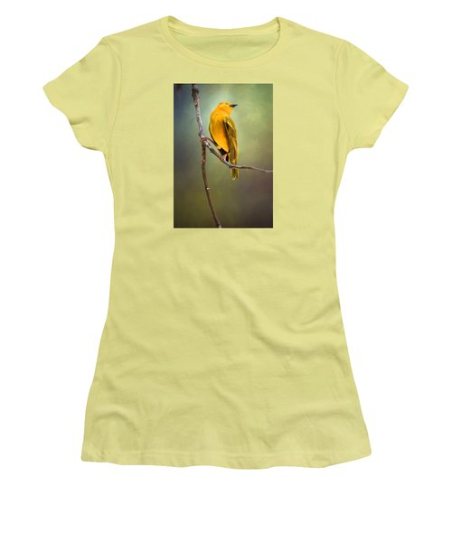 Yellow Bird Women's T-Shirt (Junior Cut) by David and Carol Kelly