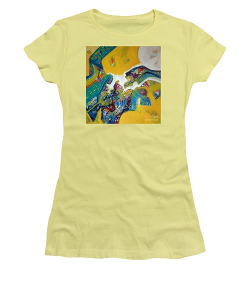 Yellow Harmony Women's T-Shirt (Athletic Fit)