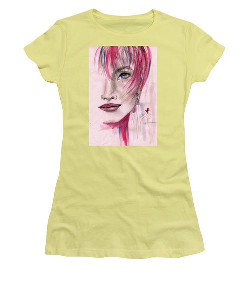 Women's T-Shirt (Junior Cut) featuring the painting Zelda by P J Lewis