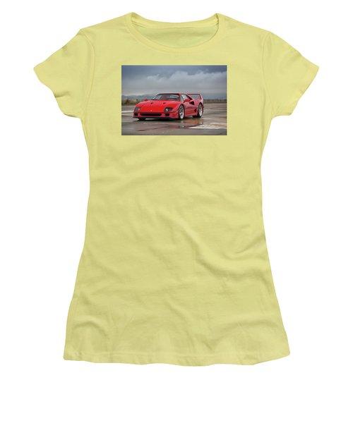 #ferrari #f40 #print Women's T-Shirt (Athletic Fit)