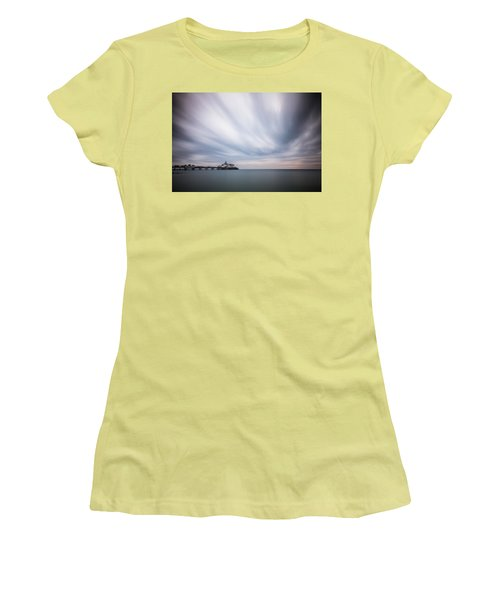 10 Minute Exposure Of Eastbourne Pier Women's T-Shirt (Athletic Fit)