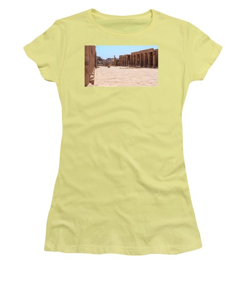 Women's T-Shirt (Athletic Fit) featuring the photograph Temple Of Isis by Silvia Bruno