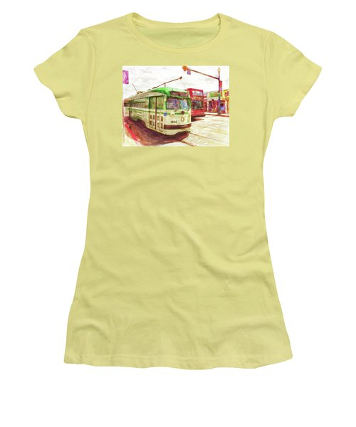 Women's T-Shirt (Junior Cut) featuring the painting 1050 by Michael Cleere