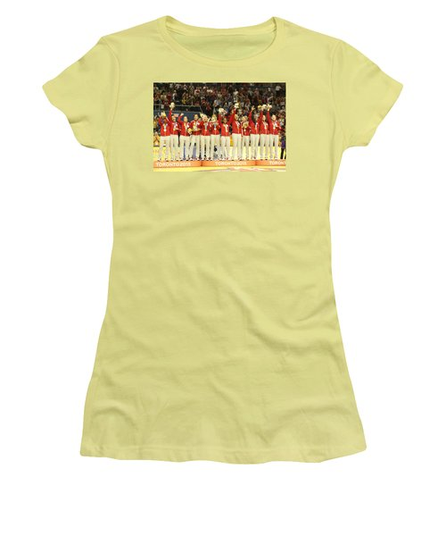 Pam Am Games Womens' Basketball Women's T-Shirt (Athletic Fit)