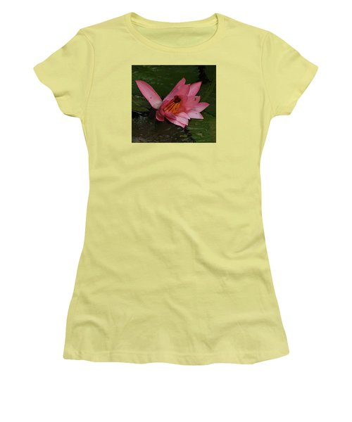 Water Lilly Women's T-Shirt (Junior Cut) by Ronald Olivier