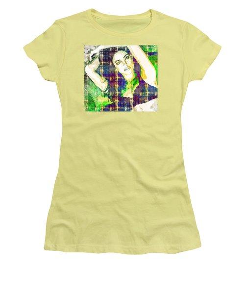 Women's T-Shirt (Junior Cut) featuring the mixed media Irina Shayk by Svelby Art