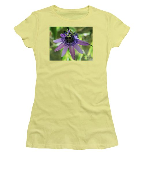 Purple Passiflora Women's T-Shirt (Athletic Fit)