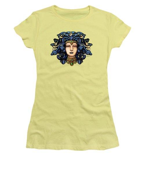 16x20 Medusa 2 Blu Gold Women's T-Shirt (Junior Cut)