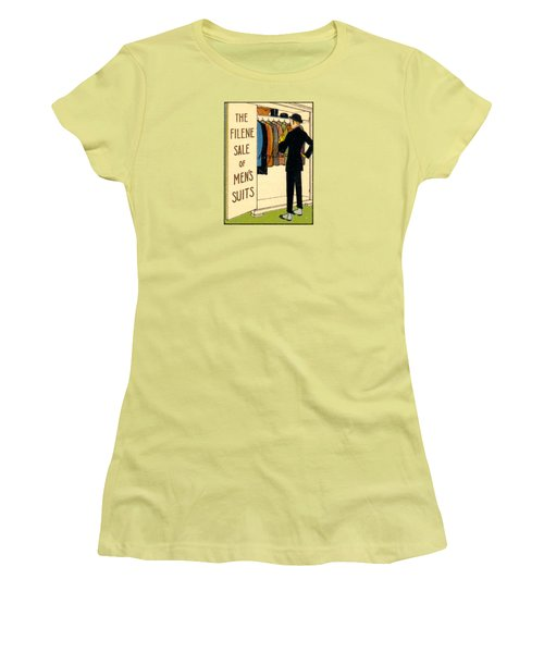 Women's T-Shirt (Junior Cut) featuring the painting 1920 Mens's Suites On Sale by Historic Image