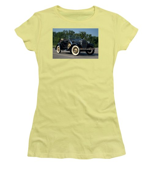 1931 Ford Model A Roadster Women's T-Shirt (Junior Cut) by Tim McCullough