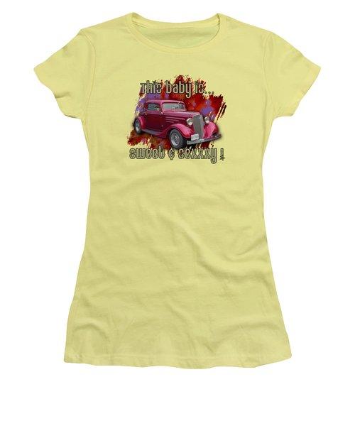 1935 Chev 3 Widow Coupe Women's T-Shirt (Junior Cut) by Richard Farrington