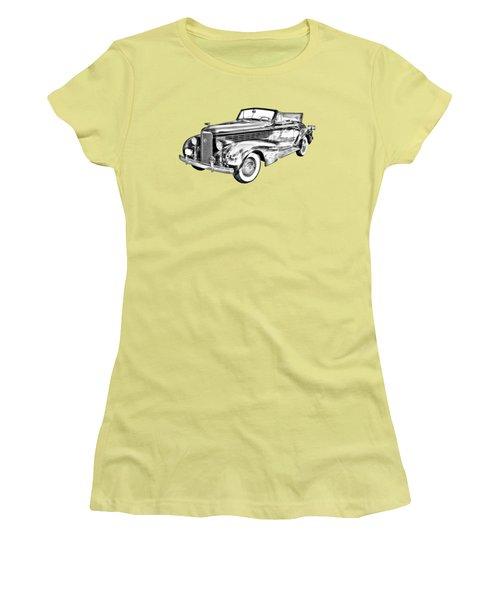 1938 Cadillac Lasalle Illustration Women's T-Shirt (Junior Cut) by Keith Webber Jr