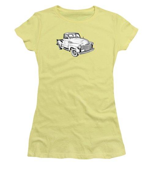 1947 Chevrolet Thriftmaster Pickup Illustration Women's T-Shirt (Junior Cut) by Keith Webber Jr
