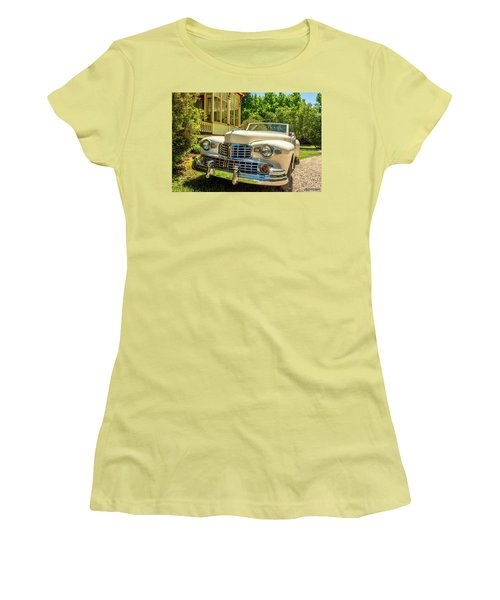 1948 Lincoln Convertible  Women's T-Shirt (Junior Cut) by Ken Morris