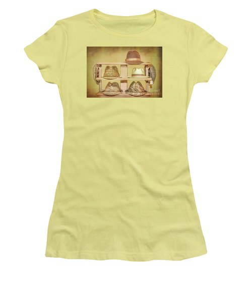 1950s Hats Women's T-Shirt (Junior Cut) by Marion Johnson