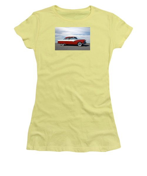 1955 Ford Victoria Women's T-Shirt (Junior Cut) by Tim McCullough