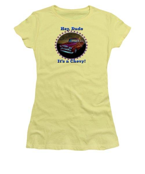 1959 Chevy Pickup Women's T-Shirt (Junior Cut) by Richard Farrington