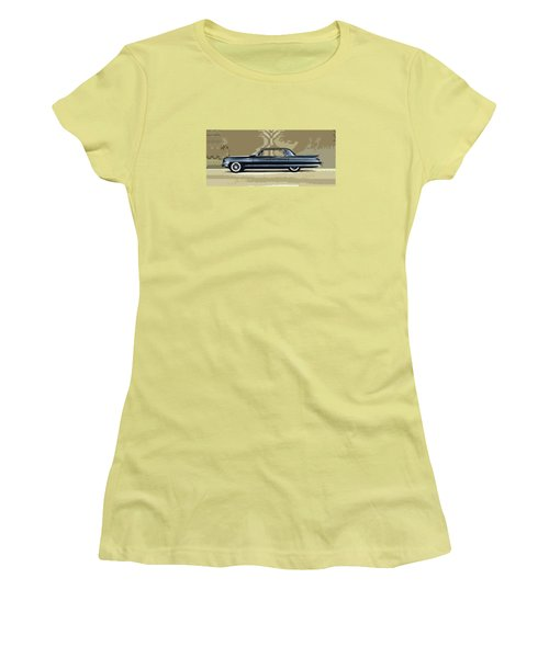 1961 Cadillac Fleetwood Sixty-special Women's T-Shirt (Junior Cut) by Bruce Stanfield