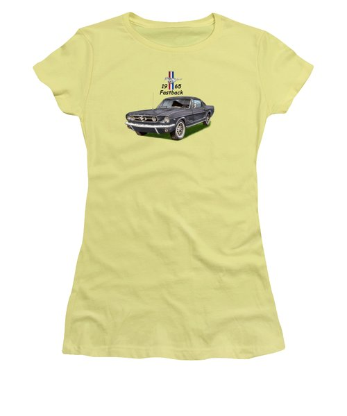 Mustang Fastback 1965 Women's T-Shirt (Athletic Fit)