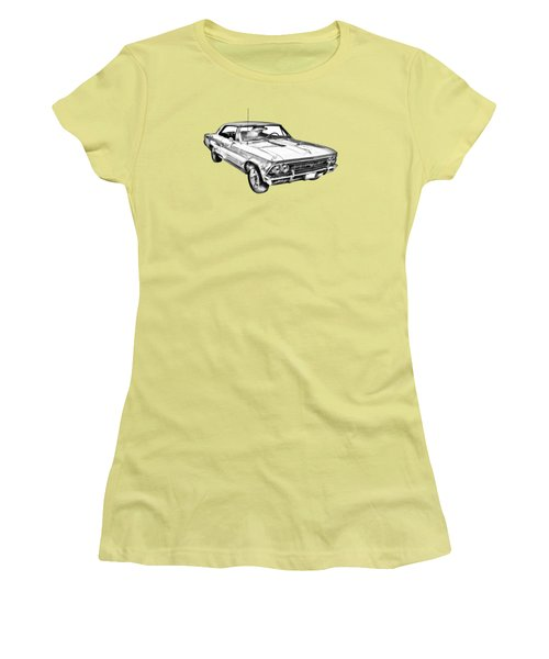 1966 Chevy Chevelle Ss 396 Illustration Women's T-Shirt (Athletic Fit)