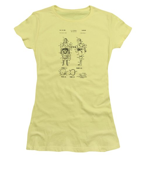 1968 Hard Space Suit Patent Artwork - Vintage Women's T-Shirt (Athletic Fit)