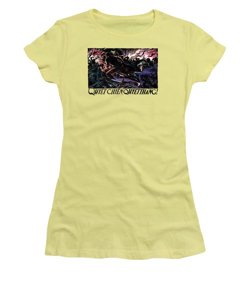 Women's T-Shirt (Junior Cut) featuring the painting 1968 North Vietnamese Propaganda by Historic Image