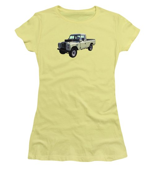 1971 Land Rover Pickup Truck Women's T-Shirt (Junior Cut) by Keith Webber Jr