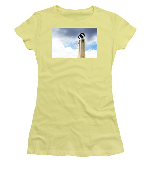 1974 Revolution Memorial Wrapped In Clouds Women's T-Shirt (Junior Cut) by Lorraine Devon Wilke