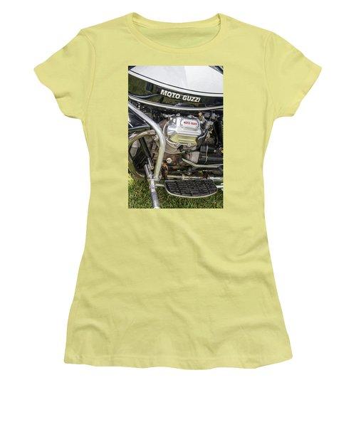 1976 Moto Guzzi V1000 Convert Women's T-Shirt (Junior Cut) by Roger Mullenhour