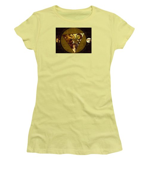 Abstract Painting - Golden Sand Women's T-Shirt (Athletic Fit)