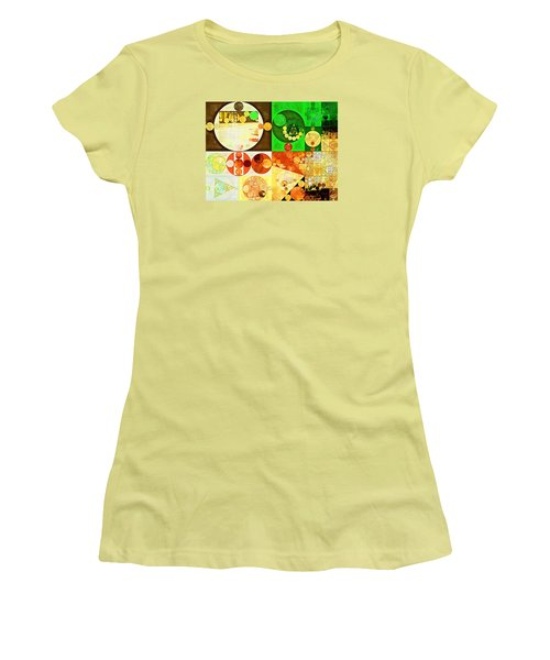 Abstract Painting - Kelly Green Women's T-Shirt (Junior Cut) by Vitaliy Gladkiy