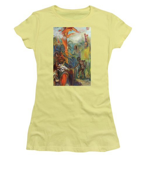 Ancestor Dance Women's T-Shirt (Athletic Fit)
