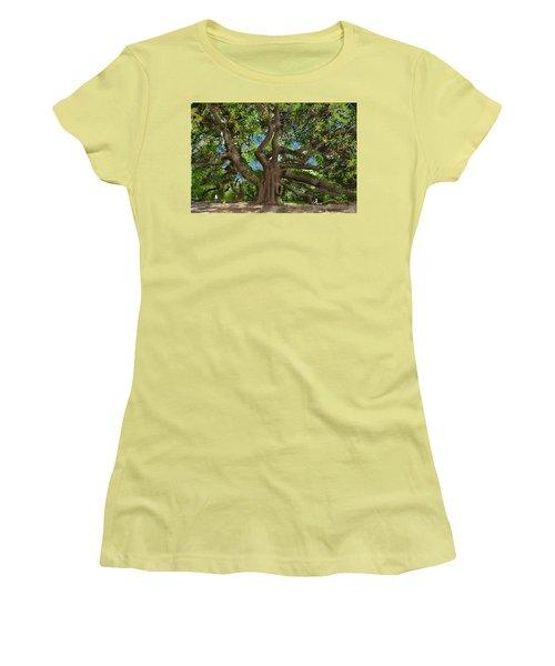 Angel Oak Women's T-Shirt (Junior Cut) by Jim Hubbard