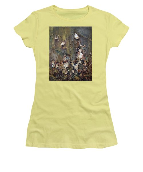 Women's T-Shirt (Junior Cut) featuring the painting Autumn Leaves by Joanne Smoley