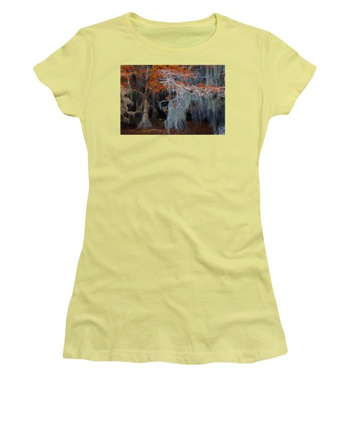 Autumn Moss Women's T-Shirt (Junior Cut) by Lana Trussell
