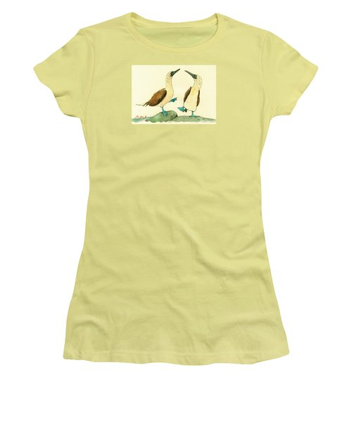 Blue Footed Boobies Women's T-Shirt (Athletic Fit)