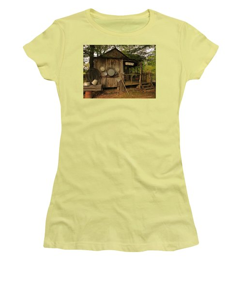 Cajun Cabin Women's T-Shirt (Junior Cut) by Ronald Olivier